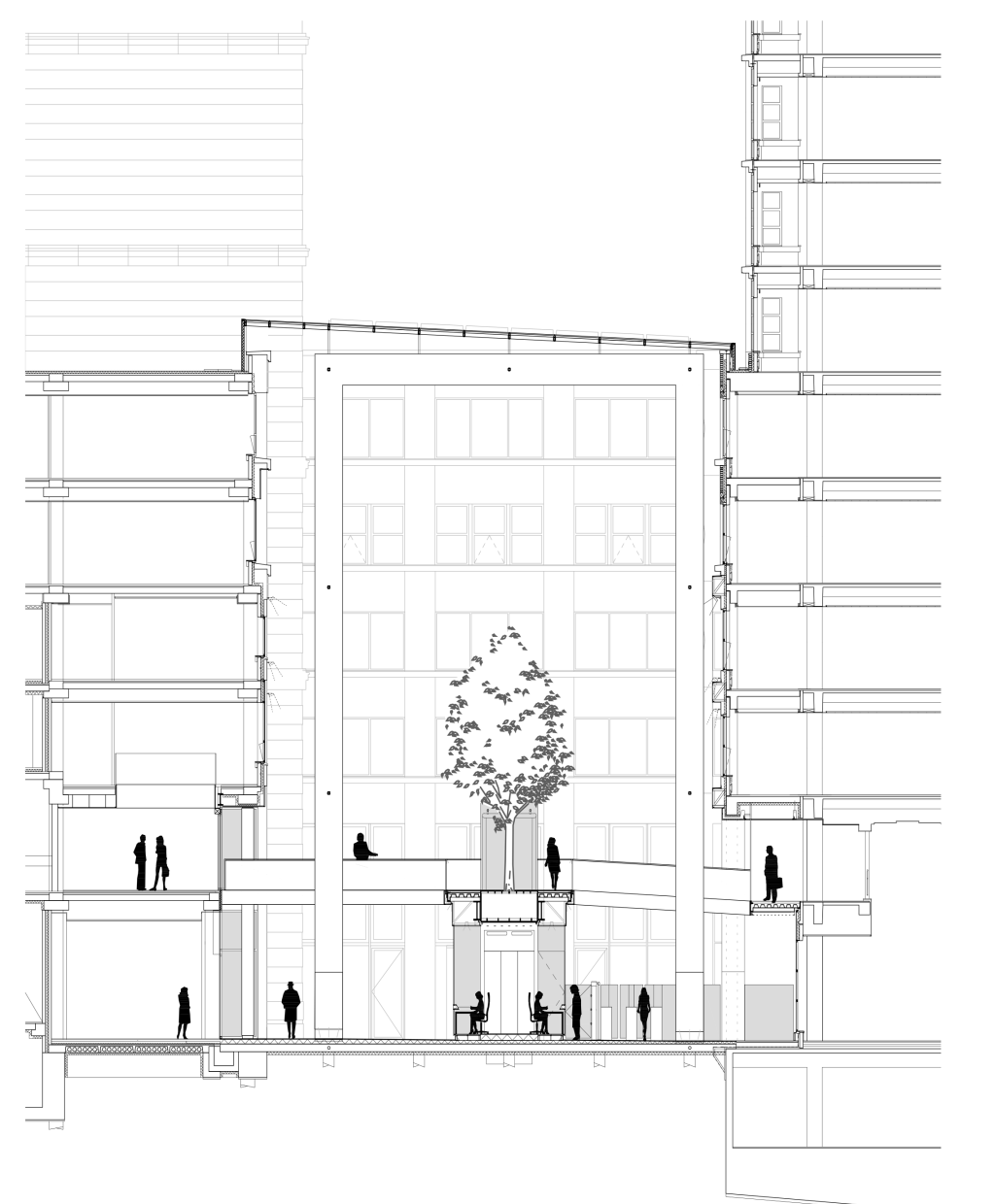 From external space to atrium