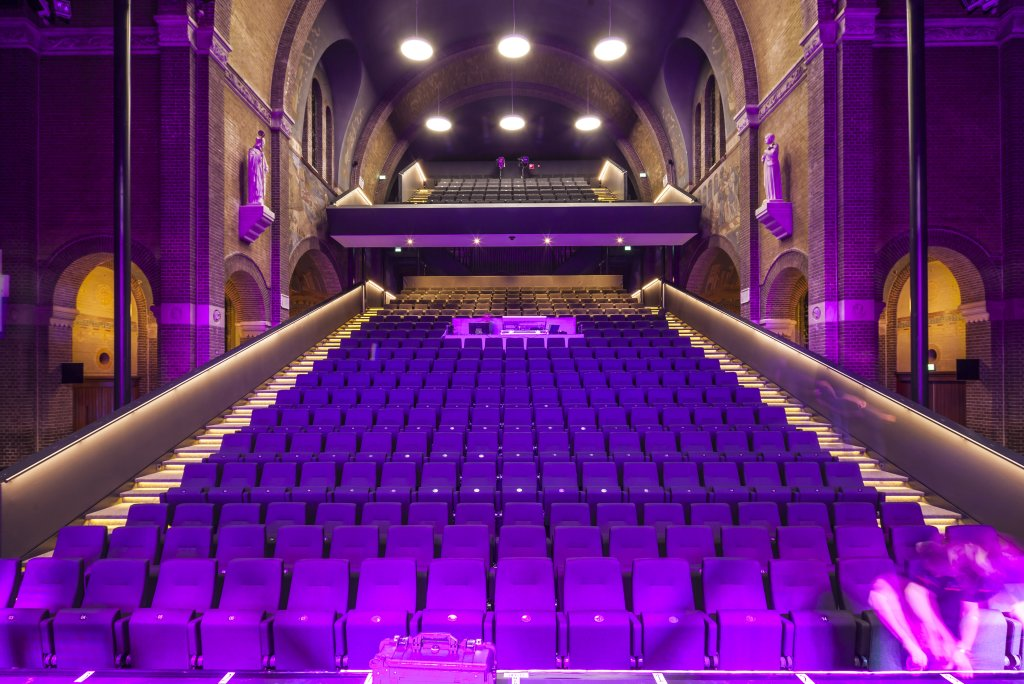 The seating platform in Speelhuis Theatre